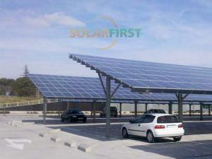 Steel solar ground carport mounting