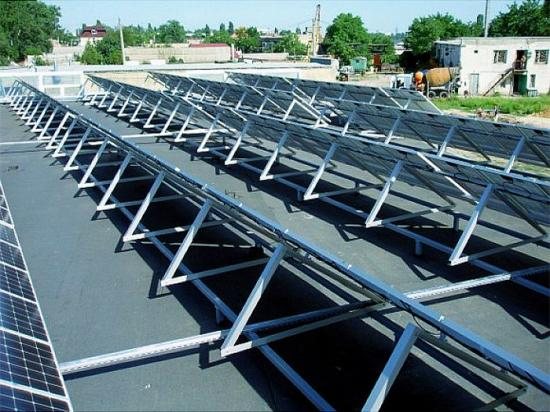 Triangle Mounting Brackets Mount Solar System on Flat Roof