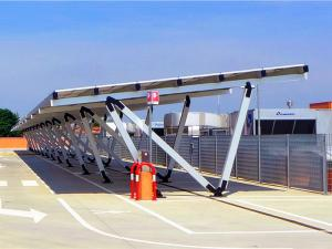 Solar carport PV mounting structure for car parking