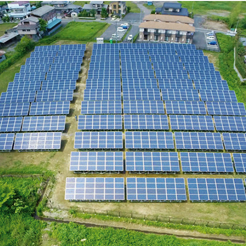 2.6MW Ground solar project located in Japan 2017