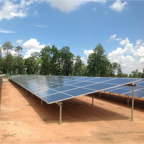 4.3MW solar power station located in Thailand 2017