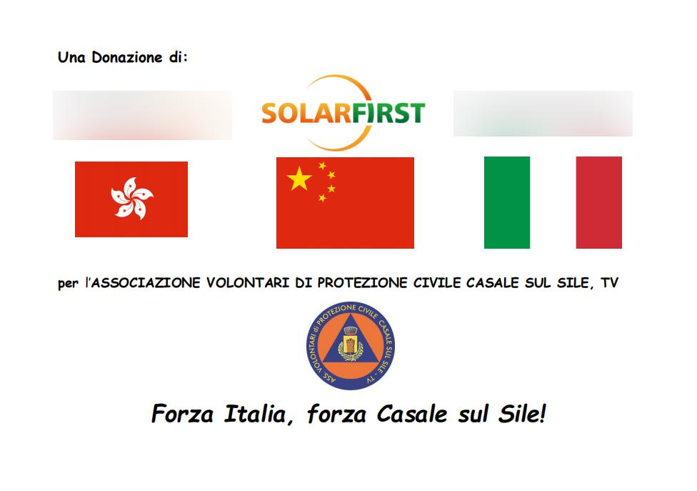 Solar First Presents Medical Supplies to Foreign Partners and Organizations